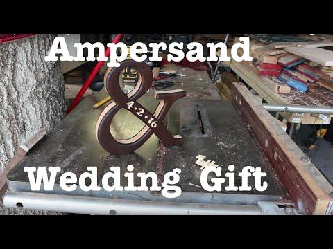 Maple and Walnut Ampersand Wedding Gift