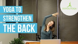 Office Yoga to Strengthen the Back | Day 8 | Office Yoga Challenge