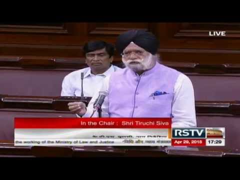 Sh. K T S Tulsi's comments on the working of the Ministry of Law and Justice