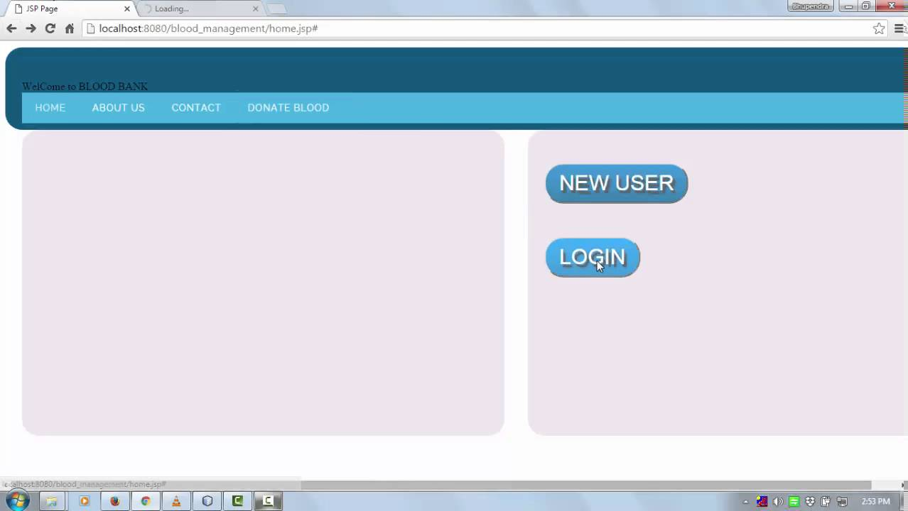 java web project using jsp, servlet , mysql (login & registration page)
