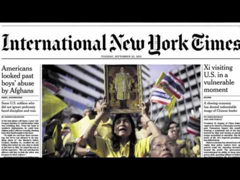 Thailand printers withhold NY Times edition over king article