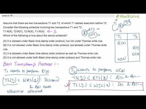 Example on Basic time stamp order protocol &  Thomas write rule