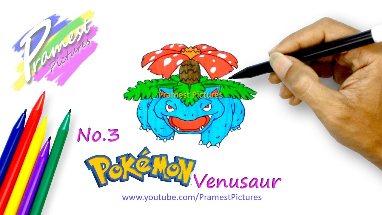Venusaur Cara Menggambar Dan Mewarnai Gambar Pokemon Untuk Anak