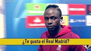 La reacción de Mané al ser preguntado sobre el Real Madrid