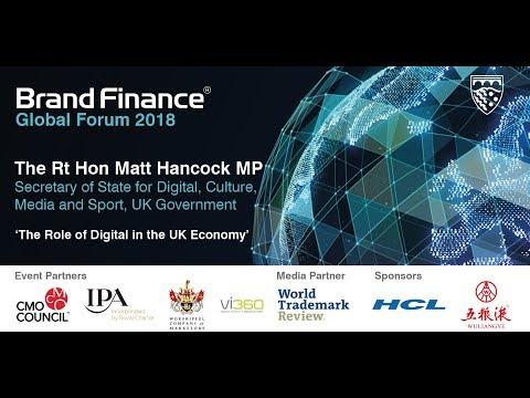 The Rt Hon Matt Hancock MP, Secretary of State for Digital, Culture, Media and Sport