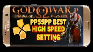 💀Best high speed ppsspp setting for God Of War chains of Olympus😱come on speed up now💀
