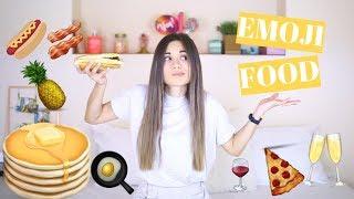 Τρώω ΜΟΝΟ emoji φαγητά για 24 ώρες!!! • Vickissme