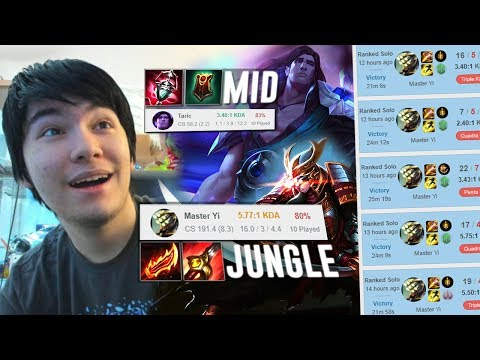 WE TRIED THE NEW CHINESE BOOSTING STRAT ! TARIC + YI DOUBLE JUNGLE NO MID ! YES THIS WORKS LOL WATCH
