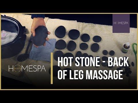 Hot Stones Massage Techniques - Back Of Leg Massage Demonstration And Tutorial