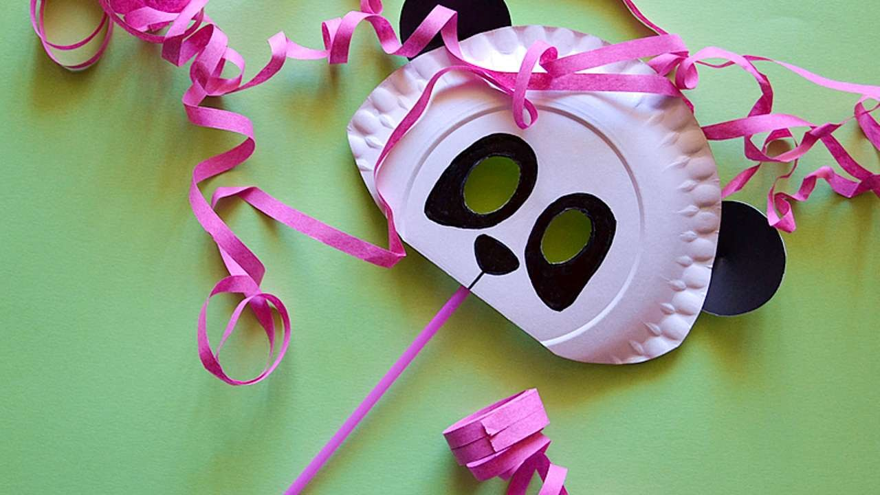 How To Make A Cardstock Panda Mask Diy Crafts Tutorial Guidecentral