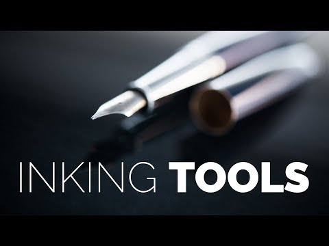 Traditional Inking Tools for Making a Graphic Novel