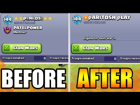 I WASTE 500 GEMS TO CHANGE MY NAME IN CLASH OF CLANS