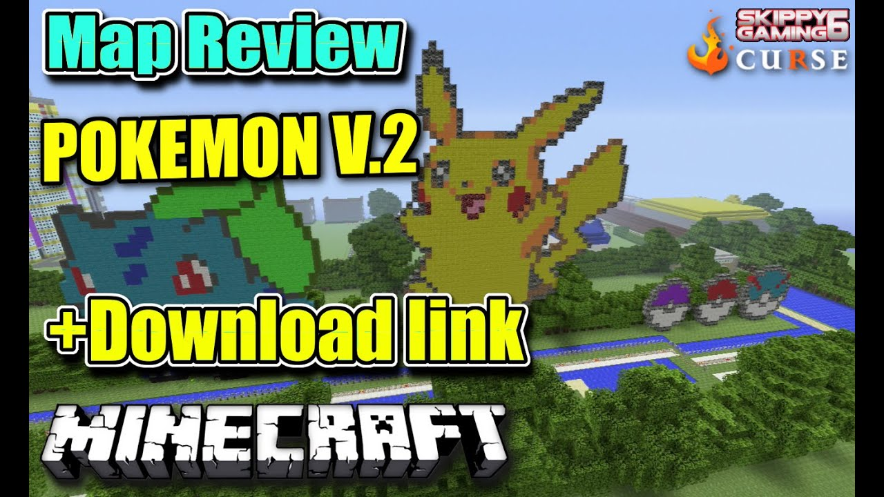 MINECRAFT - PS3 - POKEMON V.2 - MAP REVIEW + DOWNLOAD LINK ...