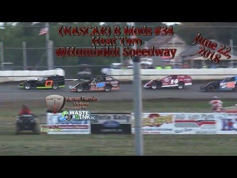 (NASCAR) B Mods #34, Heat 2, Humboldt Speedway, 06/22/18