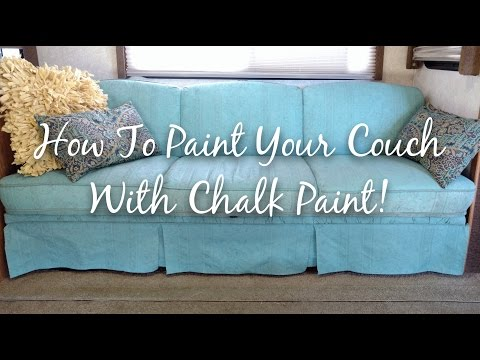 How To Paint Your Couch With Chalk Paint || RV Living || Ren