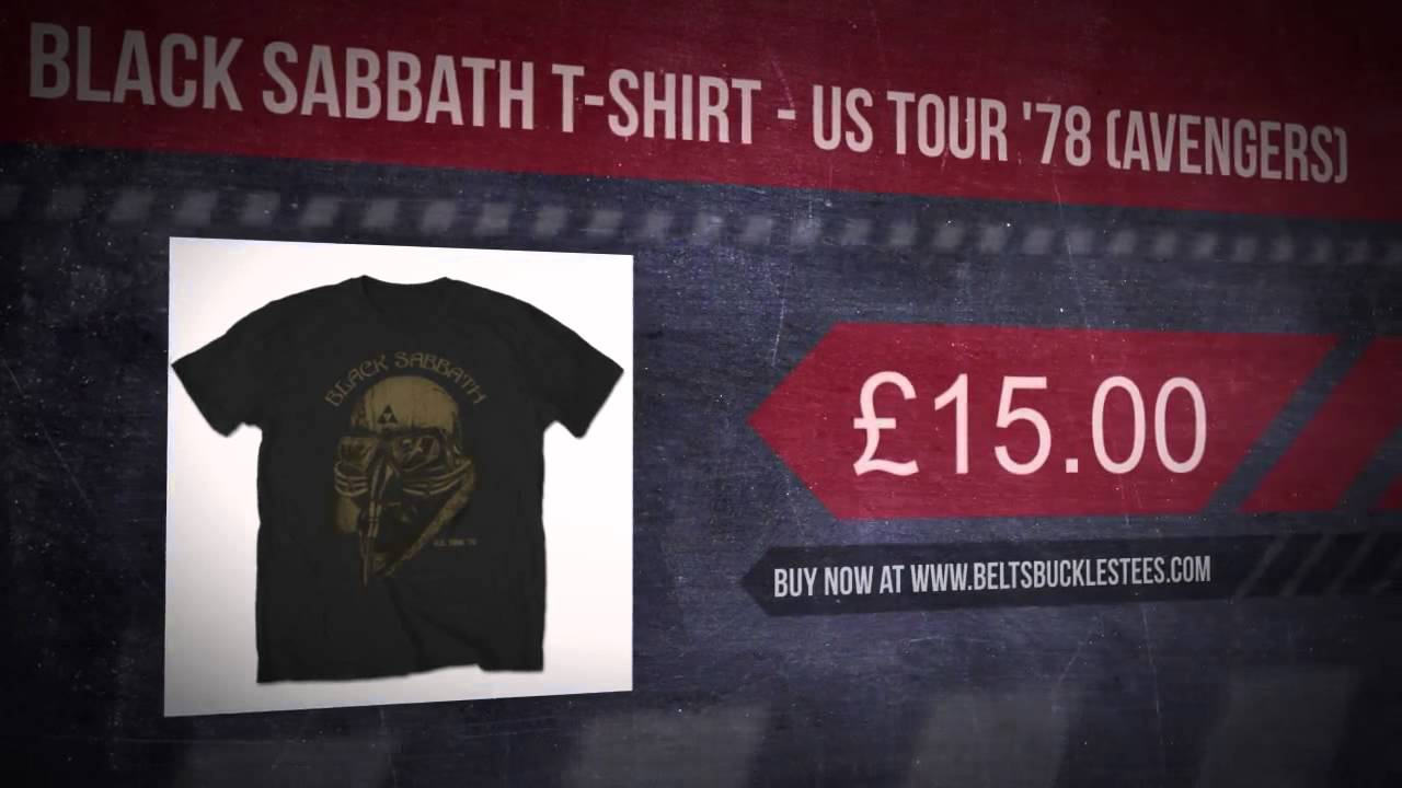 Black sabbath t shirt avengers - Black Sabbath T Shirt Us Tour 78 Avengers
