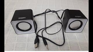 SNOPY SN-66 2.0 MİNİ USB SPEAKER KUTU AÇILIMI VE ÜRÜN İNCELEME