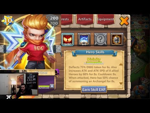 Testing Michaels New Skin Out Really Cool Transformation Castle Clash