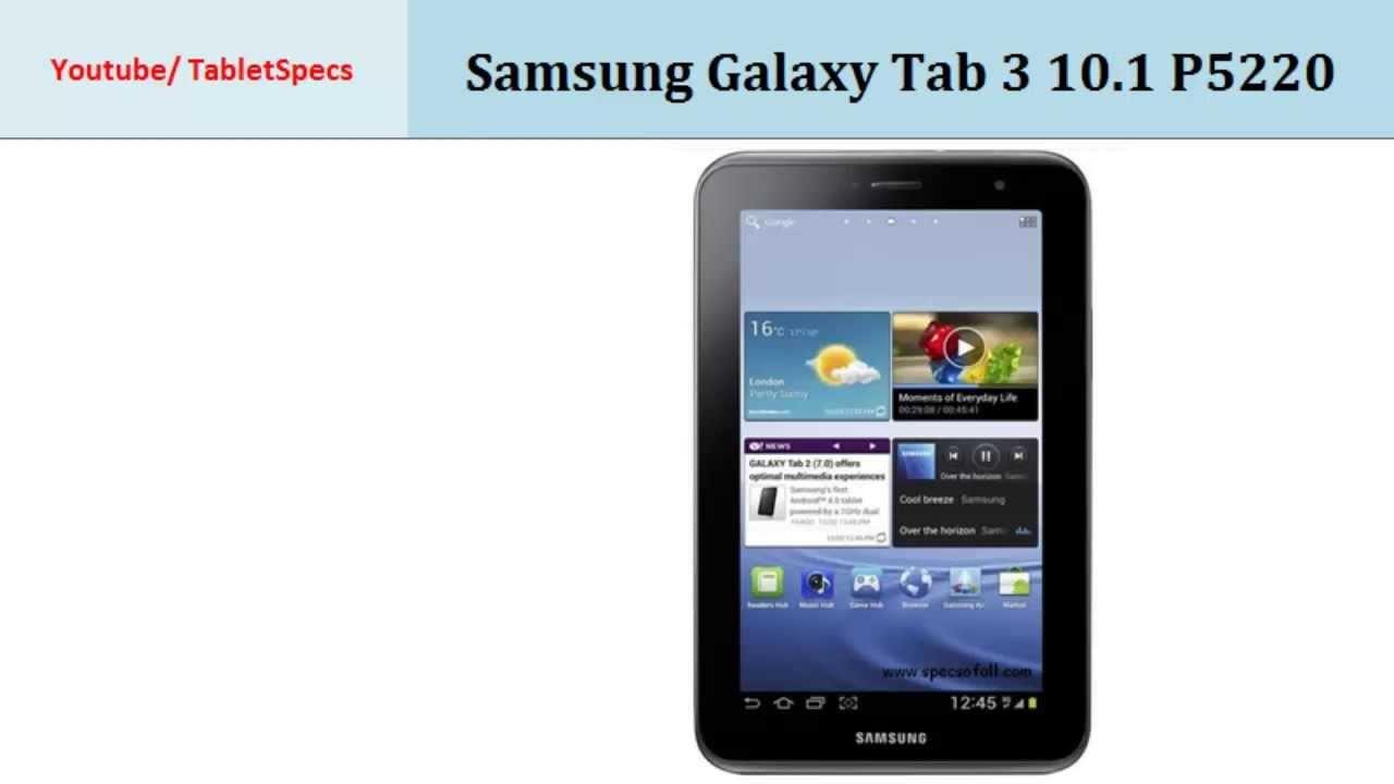 samsung galaxy tab 3 10 1 p5220 specs first look   youtube
