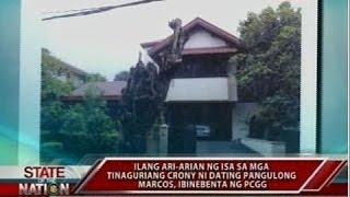 SONA: Ilang ari-arian ni dating pangulong Marcos, ibinebenta ng PCGG