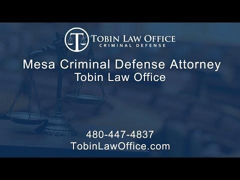 Mesa Criminal Defense Attorney | Tobin Law Office