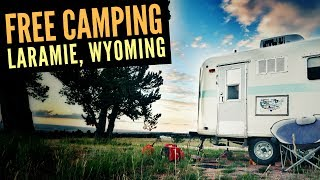 Free Camping in Laramie, Wyoming 🚐🇺🇸 Great Boondocking Site for Full Time RV Living and Van Life