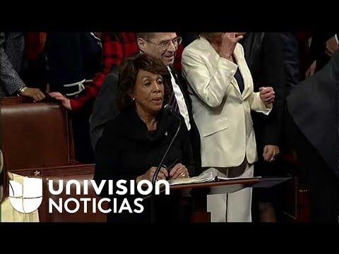 Nancy Pelosi tiene más de 7 horas exigiendo en el Congreso una solución para los dreamers