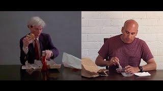 Andy Warhol Eats A Hamburger, Joe Moreno Eats Acai.