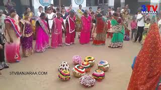 Banjara Ladies Dance on Teej Festival at Neralthanda || GANDHARI || 3TV BANJARAA