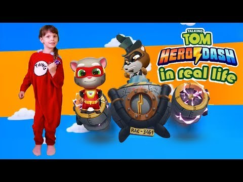 Talking Tom Hero Dash in Real Life 2| Saving Angela| Kids Skit