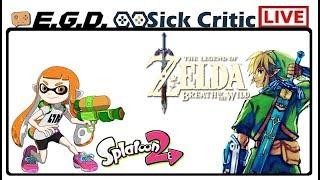 🔴EGD Live | Splatoon 2 & Breath Of The Wild | Zelda Island Challenge | Splatoon Saturday