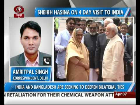 Sheikh Hasina arrives in India on 4-day visit