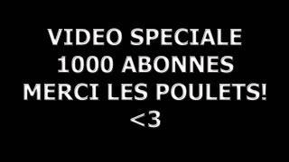 """VIDEO """"SURPRISE"""" SPECIALE 1000 ABONNES - MERCI LES POULETS!"""