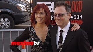 "Carrie Preston & Michael Emerson | ""True Blood"" Final Season Premiere | Red Carpet"