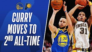 Steph Talks Reggie Miller's Legacy After Passing Him For 2nd All-Time On The 3PM List