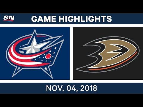 NHL Highlights | Blue Jackets vs. Ducks– Nov. 4, 2018