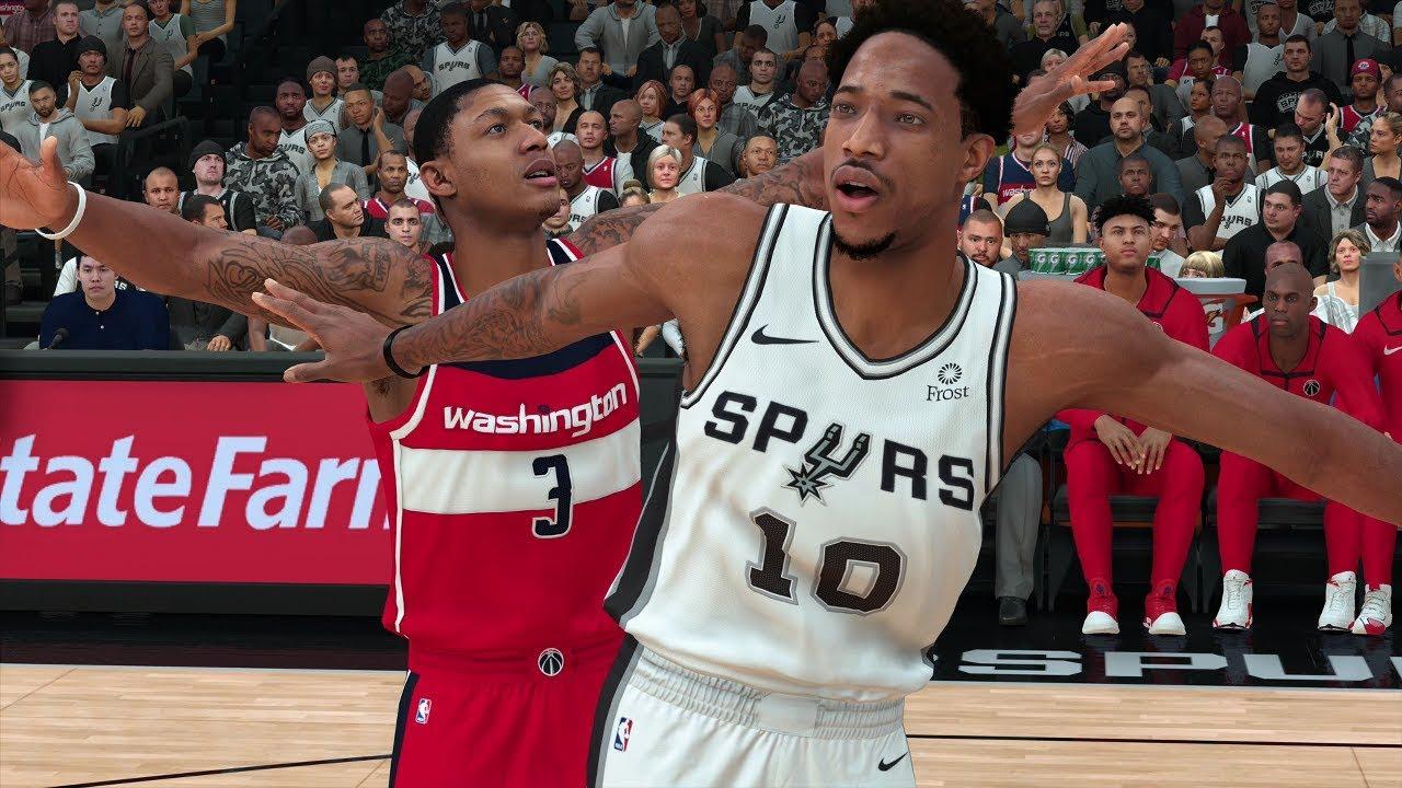 NBA 2K19 San Antonio Spurs vs Washington Wizards | NBA 2K19 PS4 Pro Gameplay