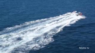 US Coast Guard chasing a small boat in Florida