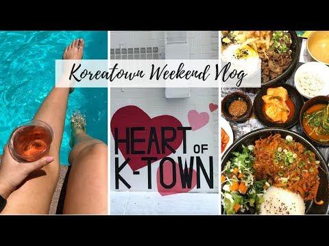 KOREATOWN LA VLOG 2017 🇰🇷 🚍 Megabus, Eating Through Koreatown, The LINE Hotel, Yoga, Karaoke