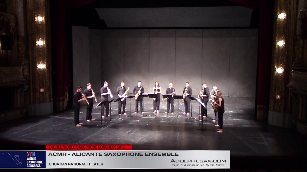 Rajaploma by Ximo Cano   Ensemble de Saxofones de Alicante   XVIII World Sax Congress 2018 #adolphes