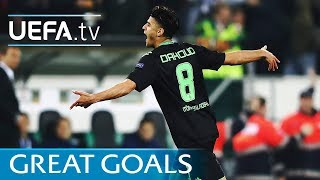 Five great goals from the UEFA Europa League round of 16