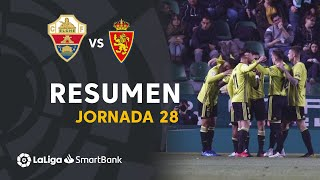 Resumen de Elche CF vs Real Zaragoza (1-2)