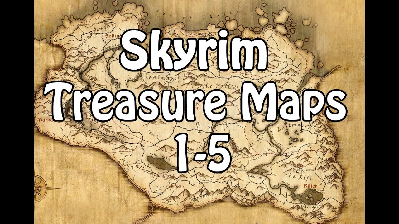 Skyrim Treasure Map 1-5 - YouTube