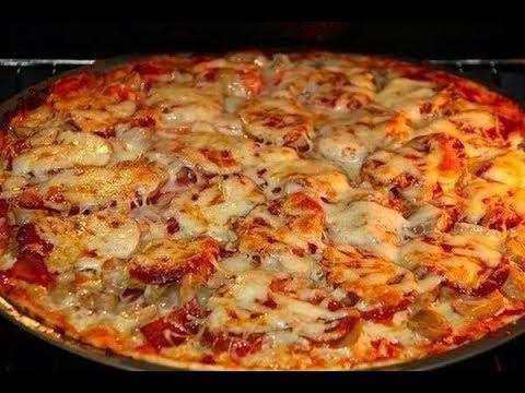 Рецепт пиццы на дрожжевом тесте в духовке в домашних условиях с фото