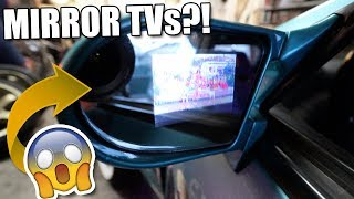 Installing Side Mirror TV Screens!