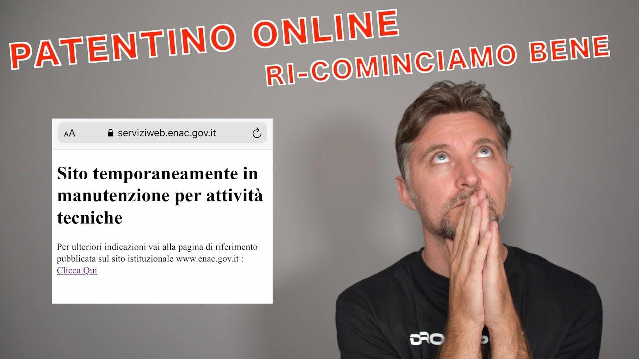 PATENTINO ONLINE ... RI-COMINCIAMO BENE 🙄😩
