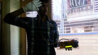 Demo of Gesture vocalizer for deaf n dumb people interaction system
