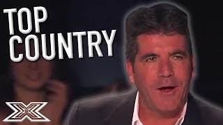 TOP COUNTRY Contestants on X Factor USA! | X Factor Global