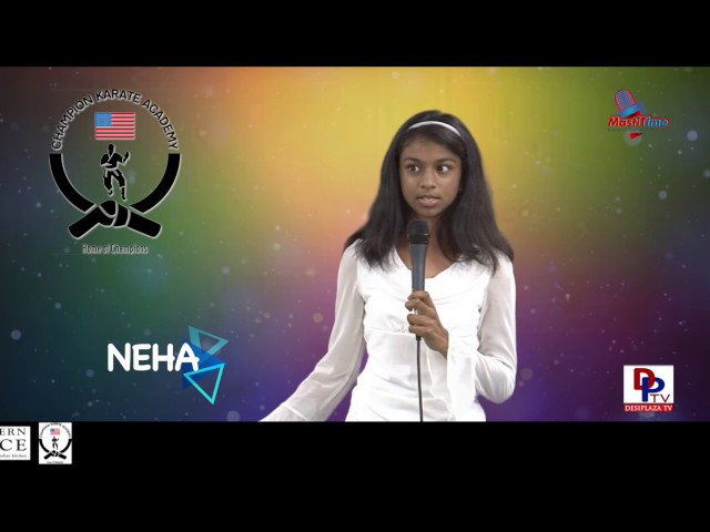 "Neha speaking about ""Why we should Recycle"" in Talking Bee - Public Speaking competitions 2016"