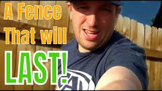 Build A Fence That Will Last! (Wooden Fence With Metal Posts)